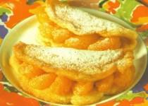 Omlet z mandarynkami