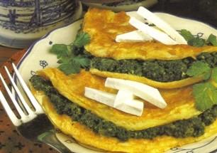 omlet ze szpinakiem