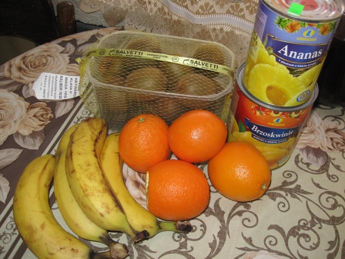 Sałatka owocowa składniki
